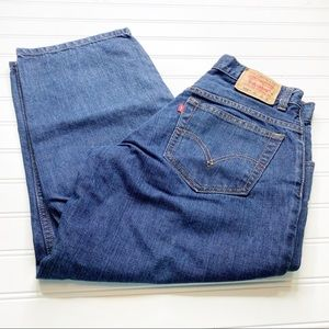 Levi's relaxed fit womens cropped jeans size 29x25